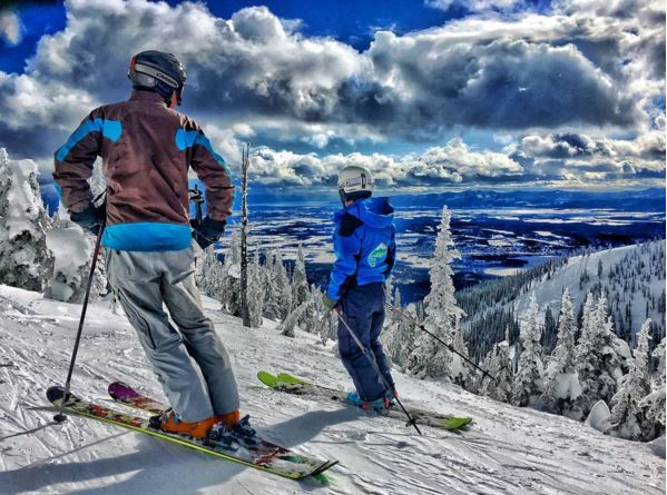 Pete and Riley scope the vast terrain at Whitefish