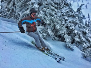 Pete skiing at Whitefish Mountain Resort