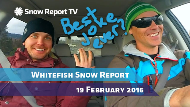 Whitefish Mountain Resort Snow Report - February 19th 2016