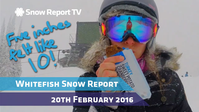 Whitefish Snow Report - 20th February 2016